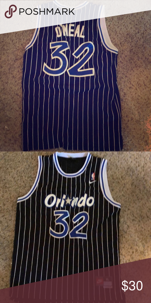new product e4d72 c7e30 Shaquille O'Neal Magic Jersey #32 Black Shaq Jersey. In ...