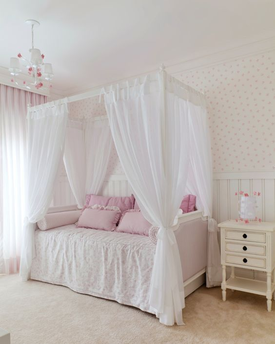 Camas com dossel camas para se inspirar decora o quarto de menina decora o com dossel - Camas decoradas ...