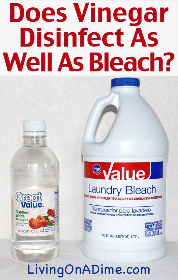 Does Vinegar Disinfect As Well As Bleach