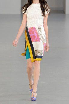 Michael van der Ham, printed hammered-silk wrap skirt