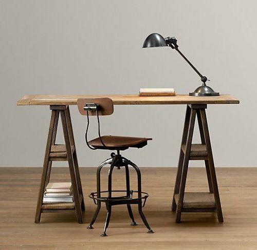 schreibtisch selber bauen 22 vielf ltige einrichtungsideen f rs b ro paletten pinterest. Black Bedroom Furniture Sets. Home Design Ideas