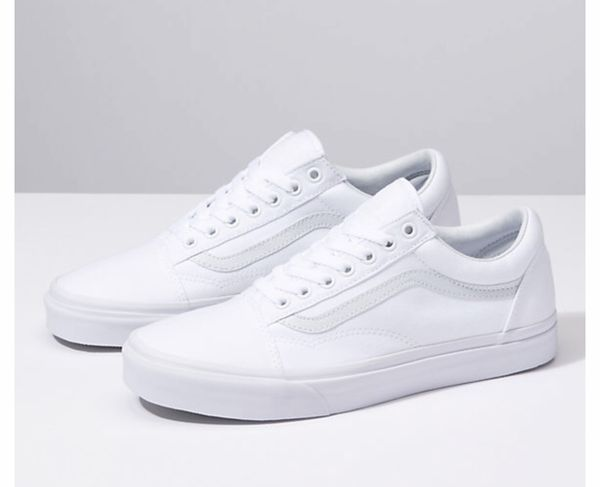 White canvas vans for Sale in Racine