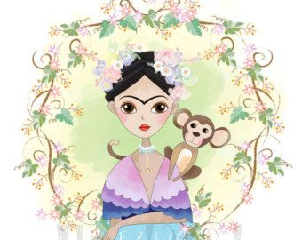 Cute Beauty And The Beast Cute Character Clipartinstant Etsy Clip Art Frida And Diego Frida Kahlo