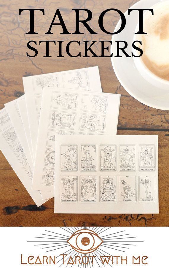 78 small tarot stickers 1 sticker for each of the 78 tarot cards based