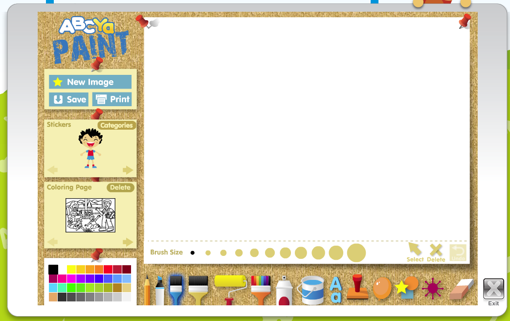 Abcya Paintgo Online Painting Website Http Www Abcya Com Abcya Paint Htm Art Apps Art Education Lessons Painting Website
