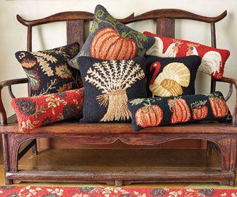 Autumn Hooked Pillows