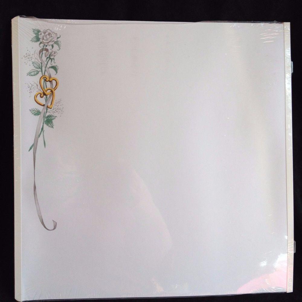 Creative memories 12x12 scrapbook refill pages wedding