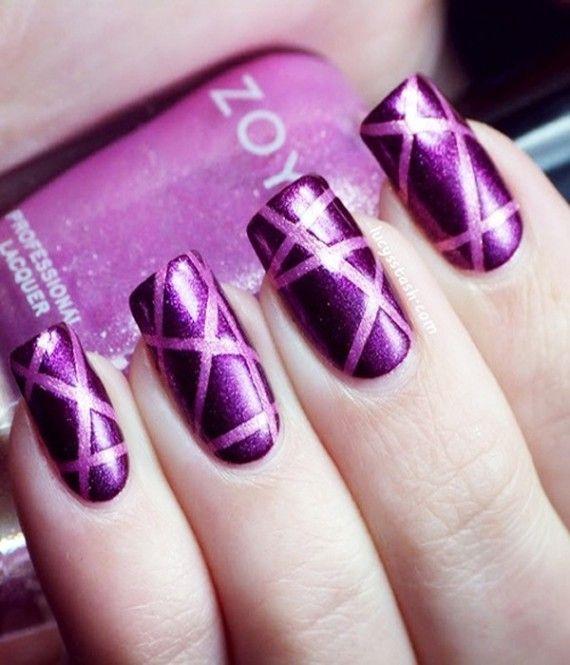 70 Ideas para pintar o decorar uñas color Púrpura – Purple nails ...