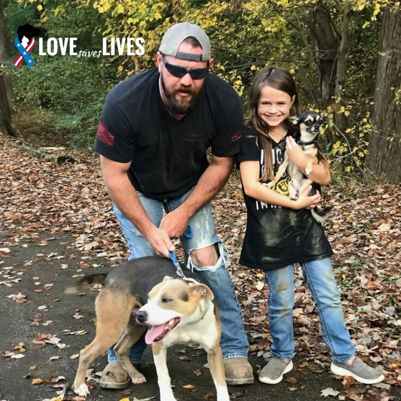 Jacob A Marine Veteran Adopted A 31 Flavors Mixed Breed Dog
