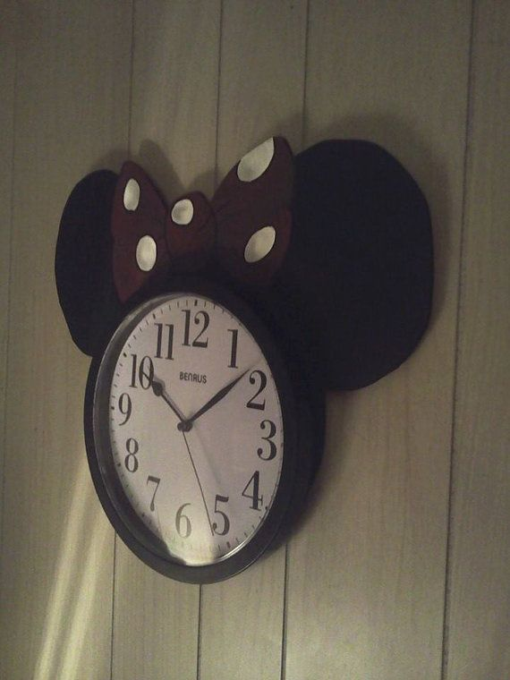 Minnie Mouse Disney Character Wall Clock For Children Bedroom Nursery And Play Area Minnie Mouse Nursery Minnie Mouse Bedroom Minnie