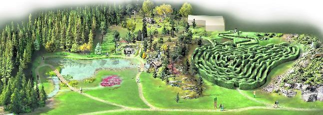 Un Poblado Indio Y Un Laberinto En El Jardin Botanico Atlantico De
