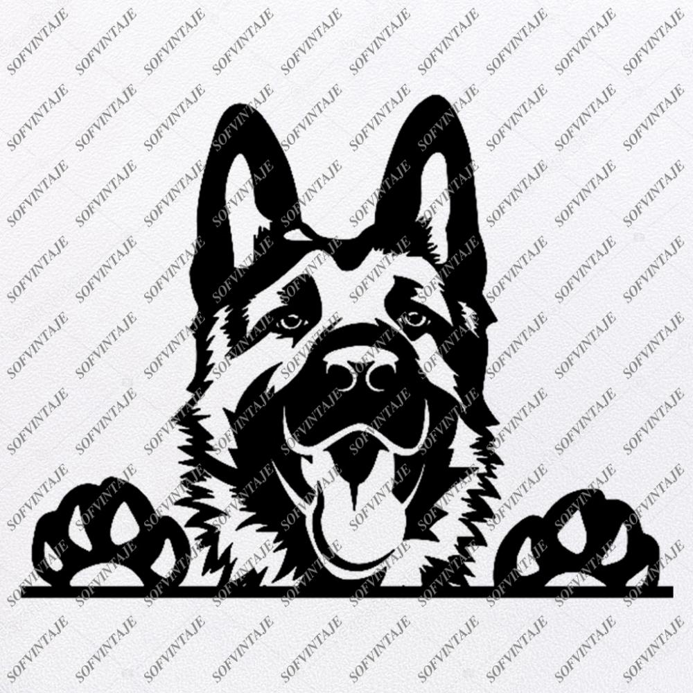 German Shepherd Svg File Shepherd Svg Original Design Dog Clip Art Animals Svg File Vector Graphics Svg For Cricut For Silhouette Svg Eps Pdf Dxf Png Dog Clip Art German Shepherd