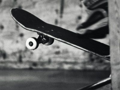 Close-up Monochromatic Image of a Skateboard at Allposters.com at AllPosters.com