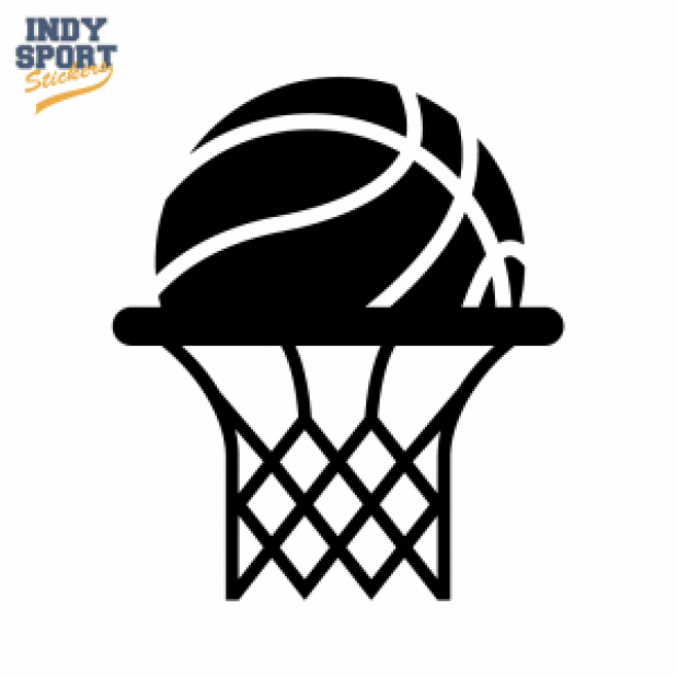 Basketball Silhouette with Rim and Net #basketballnets #