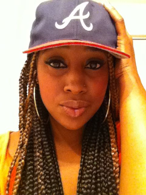 cadc6f846f3 Fitted hat and box braids
