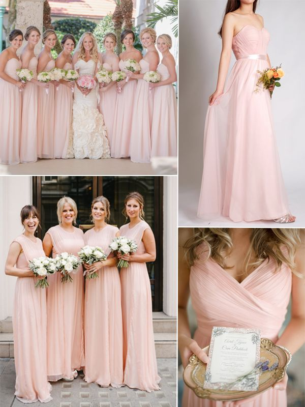 Blush Wedding Dress Grey Bridesmaids : Top colors for bridesmaid dresses blush