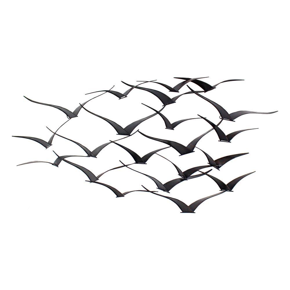 Aspire Home Accents Darla Brown Metal Birds Wall Decor