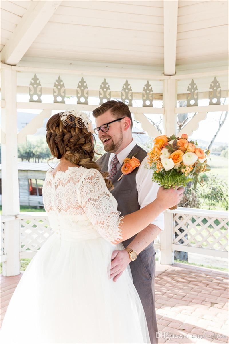 Wedding dresses cheap plus size  Discount Robe De Mariage Cheap Plus Size Wedding Dresses With Long