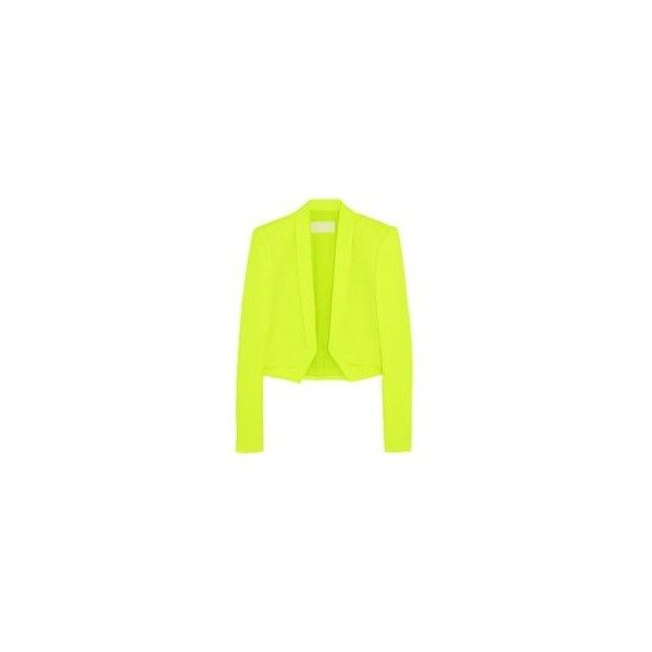 Antonio Berardi Neon stretch-crepe blazer ❤ liked on Polyvore featuring outerwear, jackets, blazers, antonio berardi, neon jacket, neon blazer, yellow blazer and blazer jacket