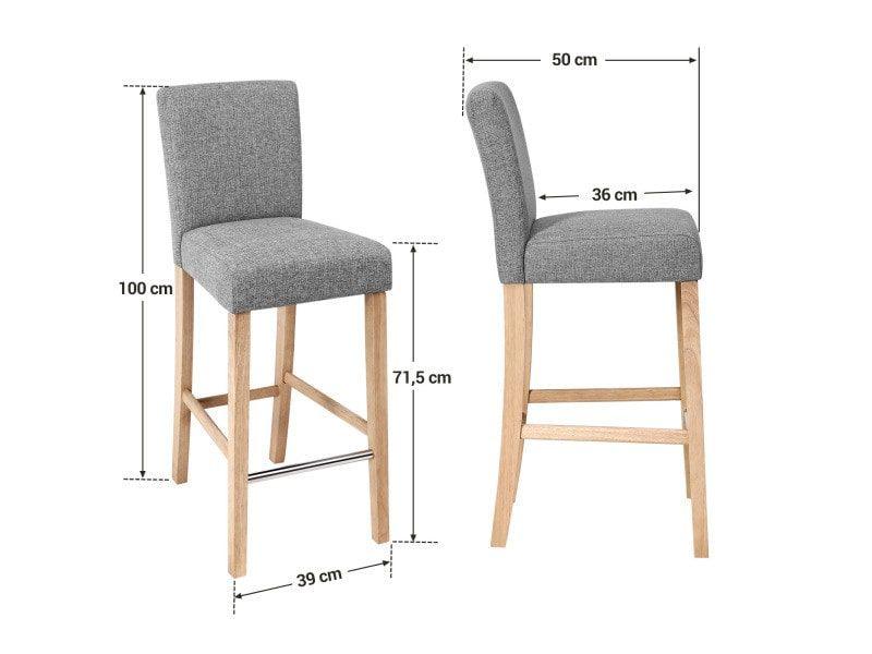 lot de 2 tabourets de bar chaise haute