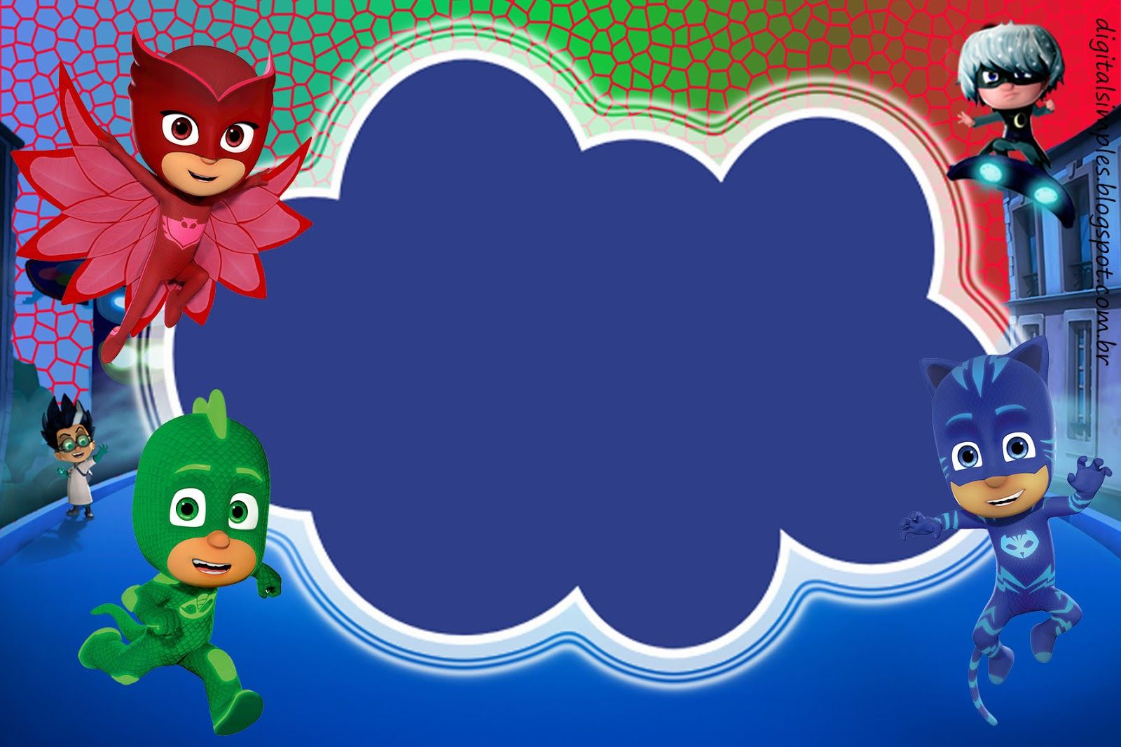 Kit digital free anivers rio pj masks convites for Third party wall notice