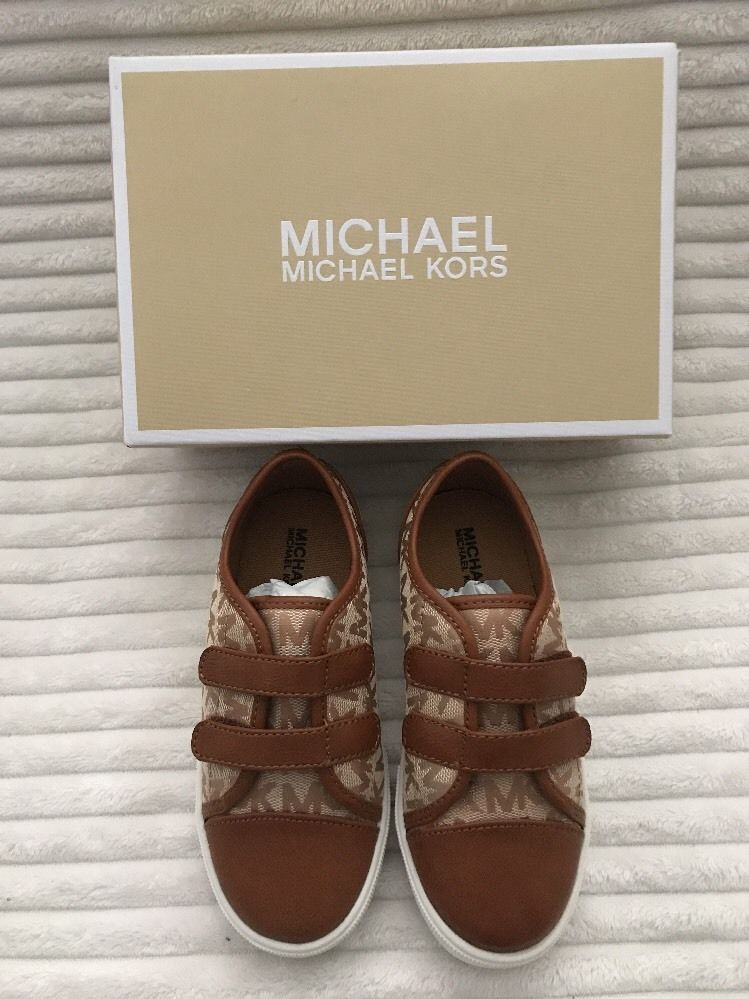9f748a59d00c83 ⭐️NEW⭐ Michael Kors Toddler Girl s Cali Alea-T Tan Cognac Sneaker