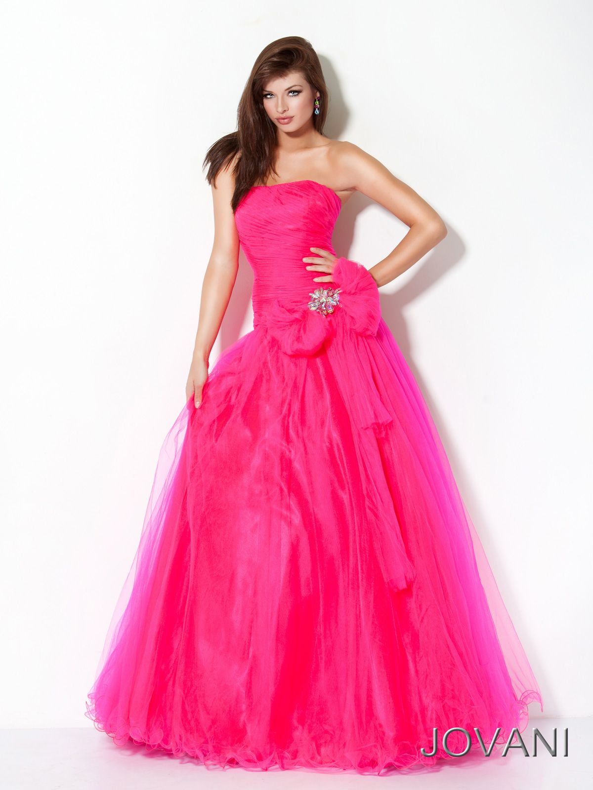 Princess style pageant evening gown Jovani 17211. Feel like a real ...