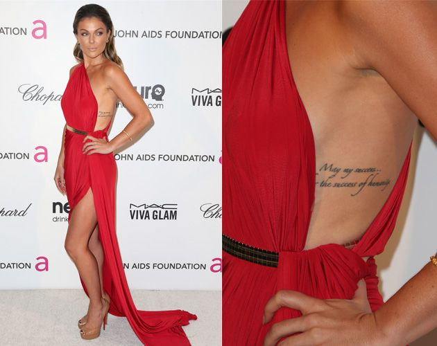 "Serinda Swan's tattoo reads: ""May my success be the ..."