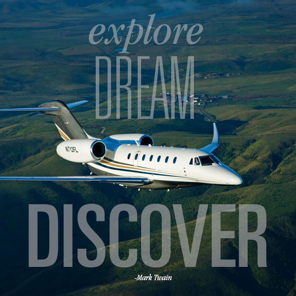 Private Jet Quote Exploredreamdiscover Mark Twain #travel #quote #jetset