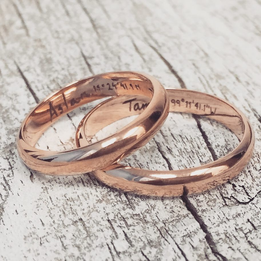 Engraving Ideas For Wedding Bands: Love The Idea Of Matching Wedding Engraved Wedding Bands