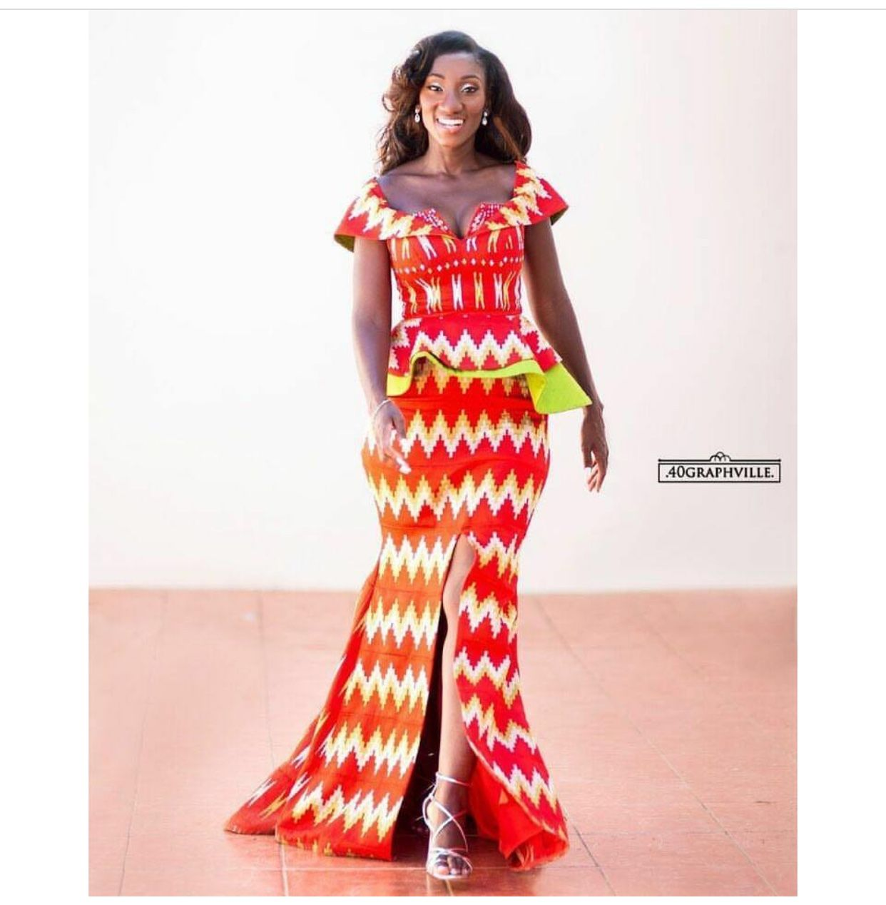 Such a bold and daring color on this melanin beautytraditional