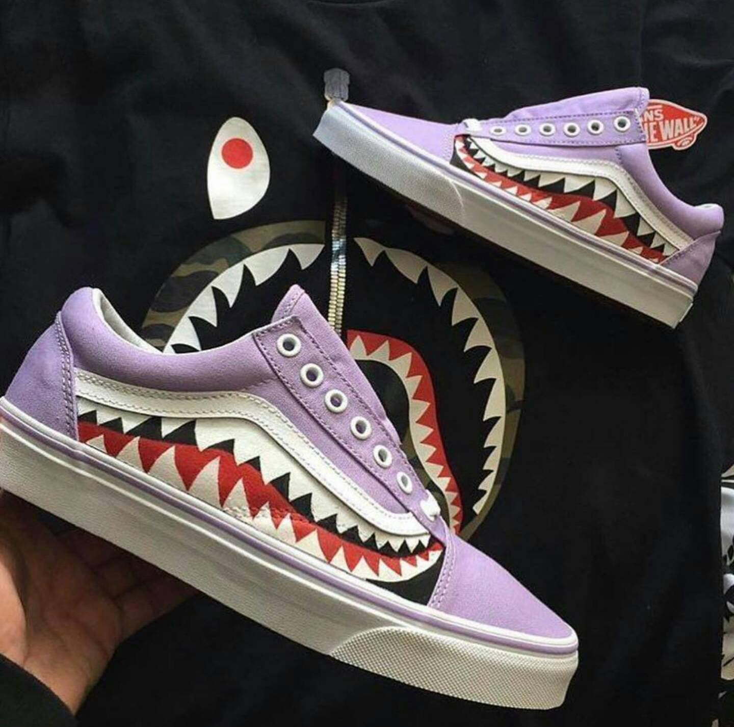 custom vans shoes bape