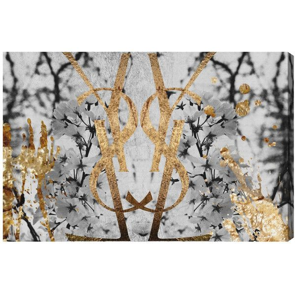 Oliver Gal Botanical Couture Noir Canvas Wall Art ($204) ❤ liked on