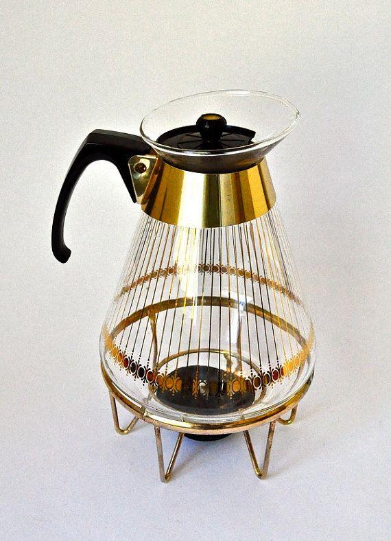Vintage Tricolette Coffee Carafe