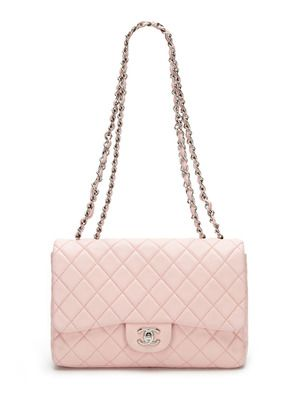 5e7c1cabcc10 Chanel Baby Pink Quilted Lambskin Jumbo 2.55 Classic Flap Bag ...