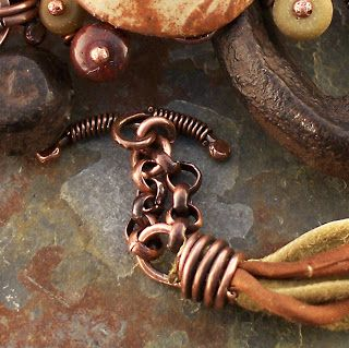 Make Your Own Coil Crimp Ends to crimp ribbon, leather, or cord. #jewelrymaking #diy #tutorial