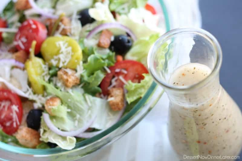 Copycat Olive Garden Salad Dressing (+ Video) Dessert