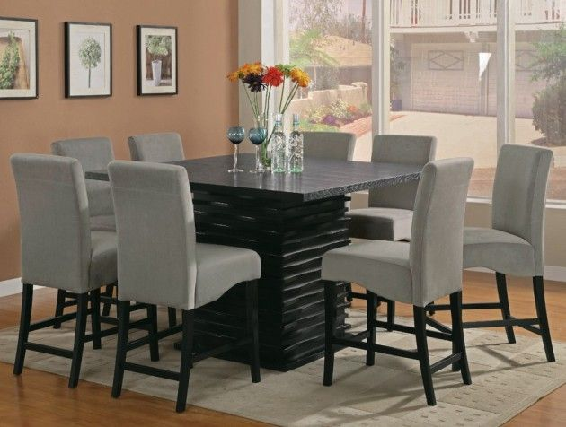 Square Dining Table For 8 Counter Height Square Dining Room