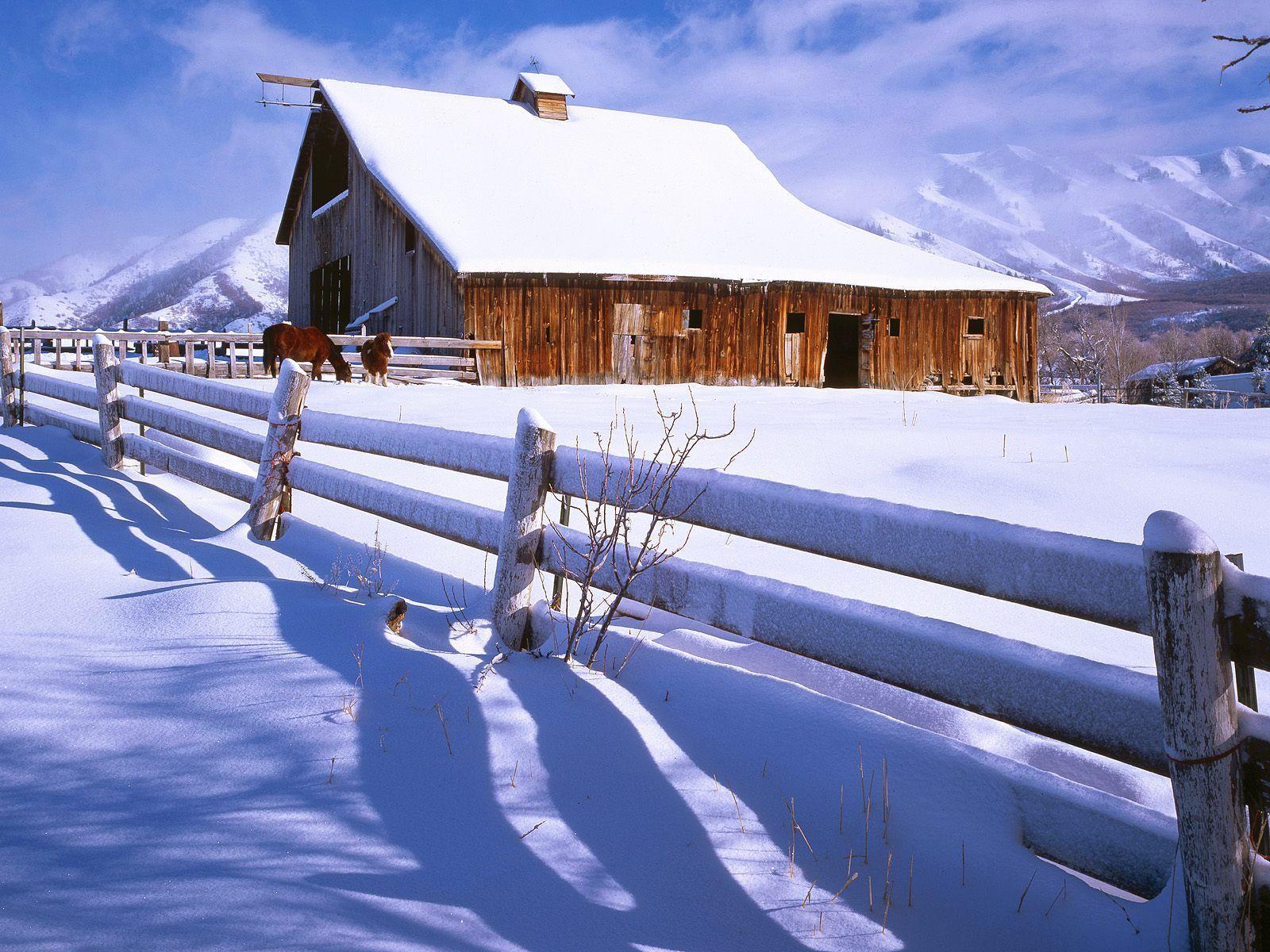 old cabin winter scene wallpaper - photo #24
