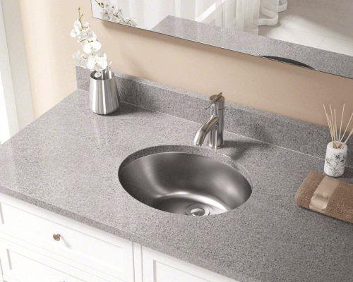 Stainless Steel Vanity Sink 19 Single Round Bowl Dual Mount
