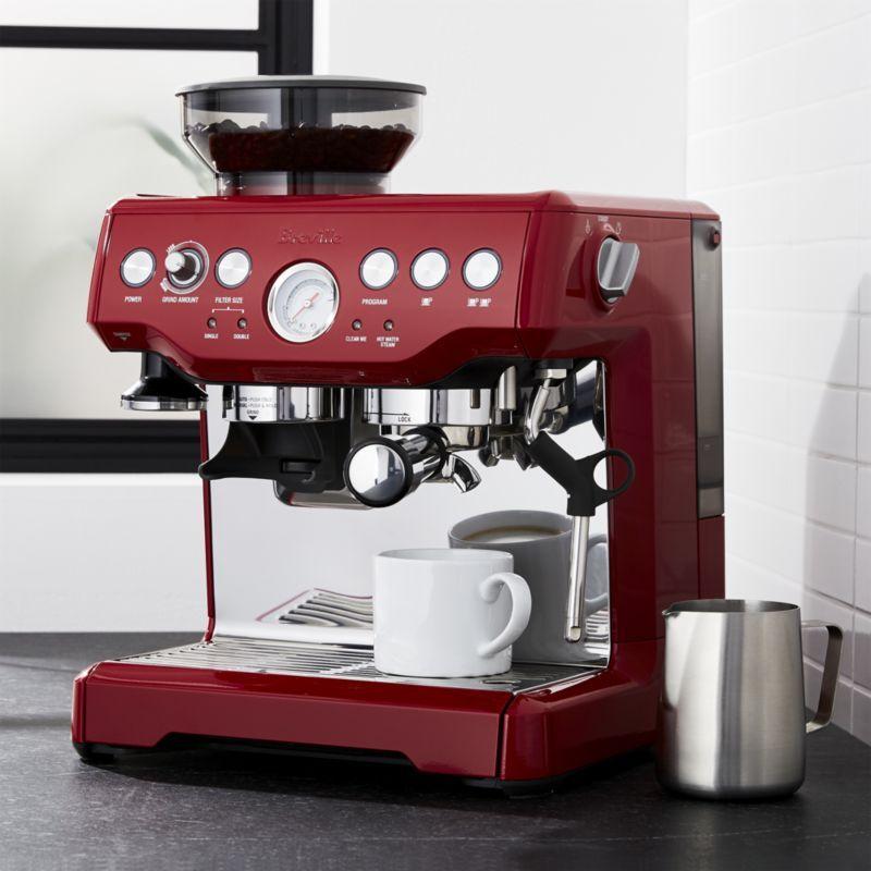 Free Shipping Shop Breville Red Barista Express Espresso Machine Cappuccino Machine Espresso Machine Home Espresso Machine