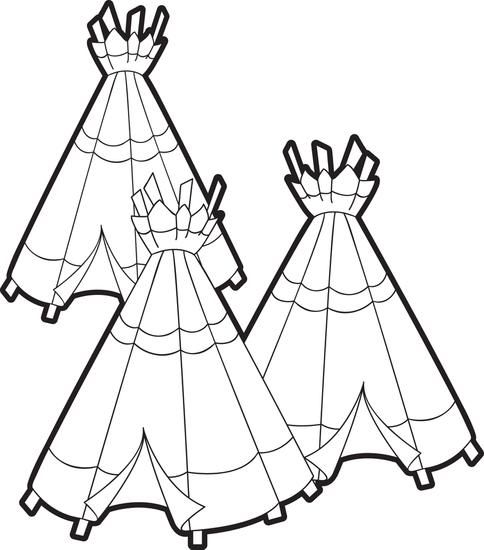Teepee Coloring Pages