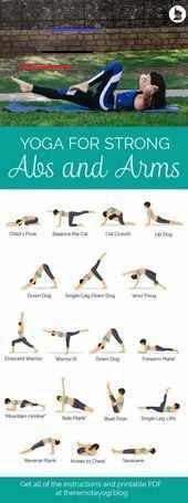 Yoga für starke Bauchmuskeln und Arme – Kostenloses druckfähiges PDF - Yoga & Fitness  Yoga für star...