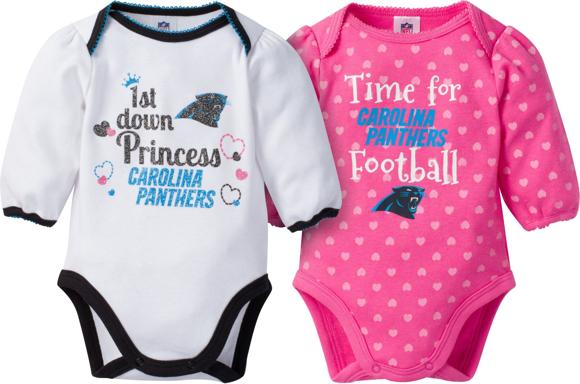 662e47f3b1 Gerber Infant Girl s Carolina 2-Piece Long Sleeve Onesie Set