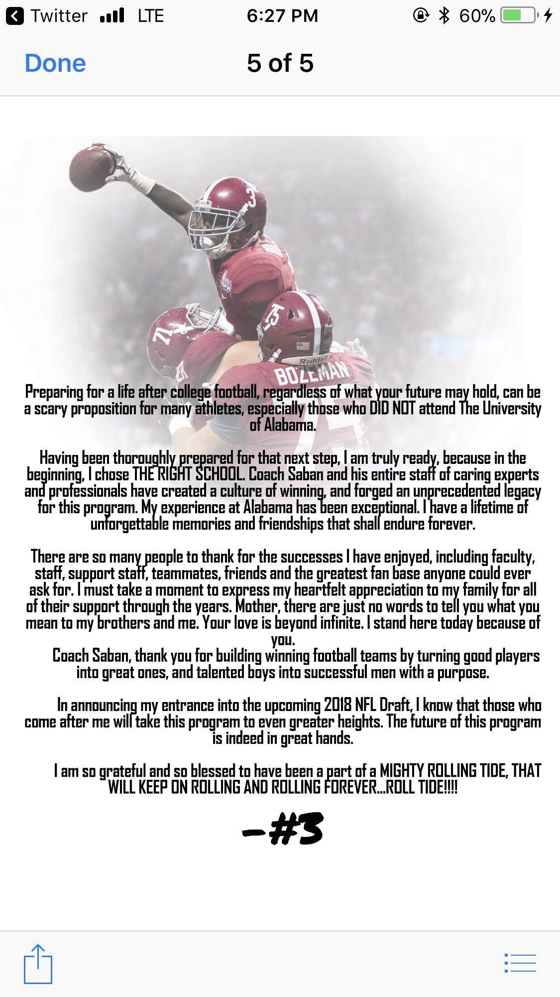 Calvin Ridley S Nfl Draft Announcement Will Make You Want To Commit To Alabama Nick Saban Alabama Crimson Tide Football Alabama Football Roll Tide Alabama