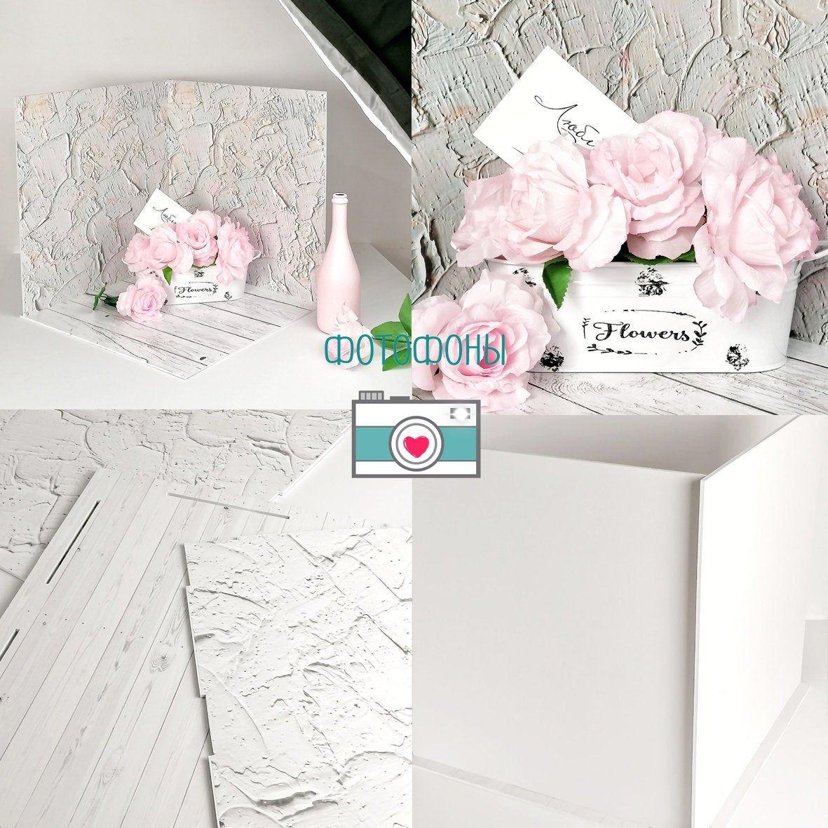 Plaster, Texture, Old Floor Boards, 3D Background, Plastic