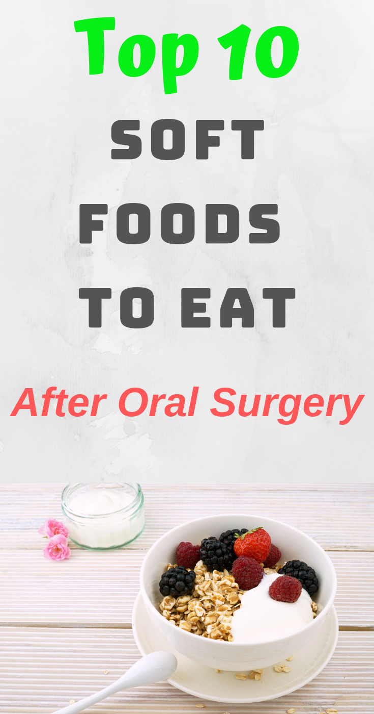 Top 10 Soft Foods to Eat After Oral Surgery #softfoodsaftersurgeryteeth It can sometimes be very difficult to find soft foods to eat after oral surgery. The best foods you need after undergoing an oral surgery should be soft, easy to eat, and fulfilling as well. You should stick to foods that you are comfortable eating. You should also remember not to try to use a straw when taking any liquid food as this may remove the forming blood clots in the gums. In this post, we have listed some of the be #softfoodsaftersurgeryteeth