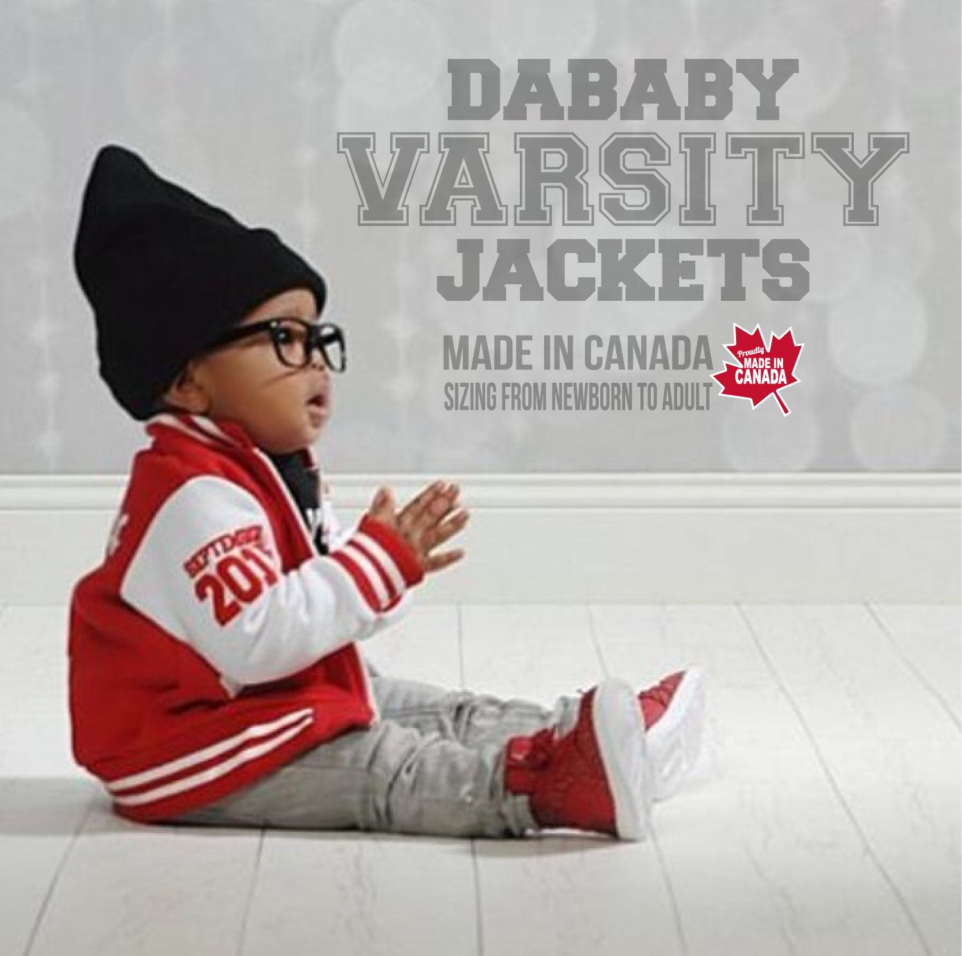 Baby boy girl varsity jacket personalized unique baby