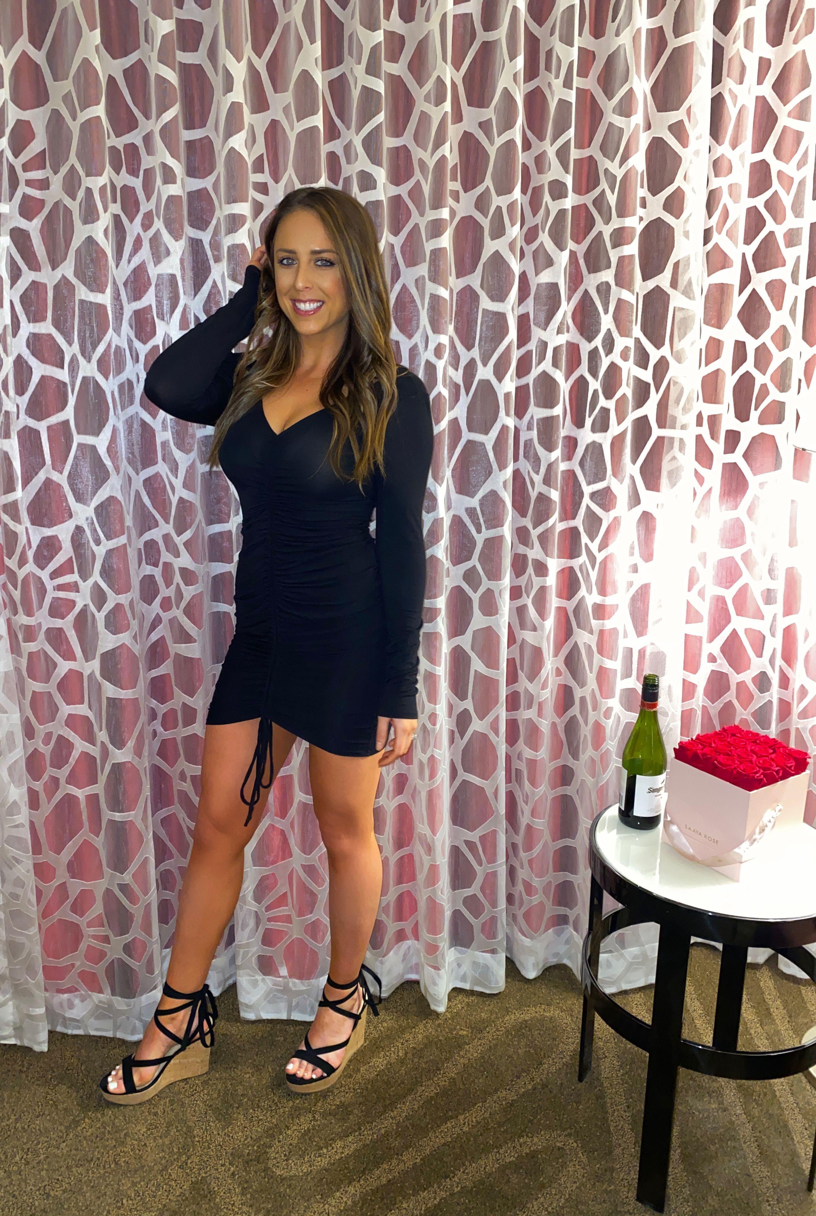 Long Sleeve Black Dress Lbd Black Long Sleeve Dress Dresses Dress Wedges [ 4032 x 2707 Pixel ]
