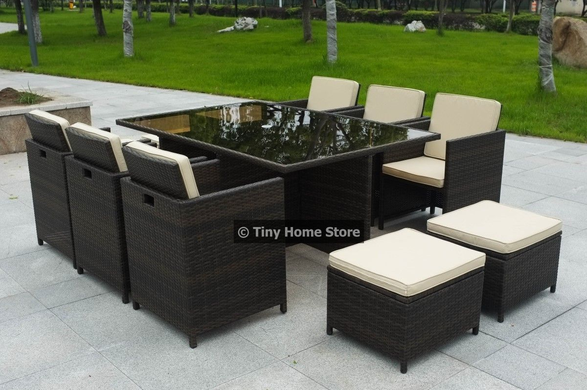 Details About Luxury Cube Rattan Dining Set Garden Furniture Patio  Conservatory Wicker Outdoor Amazing Ideas